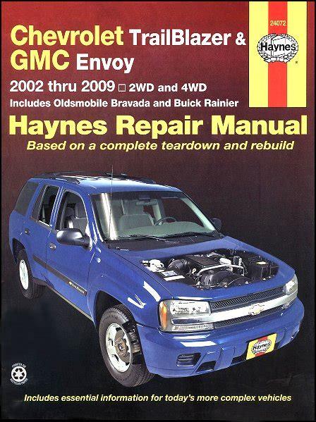 old car owners manuals 1998 gmc envoy on board diagnostic system trailblazer ext envoy xl bravada oainier repair manual 2002 2009