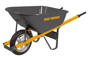 6 Cubic Foot Steel Wheelbarrow with Never Flat Tire | True ...
