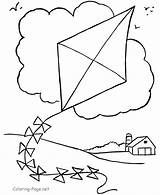 Kite Coloring Pages sketch template