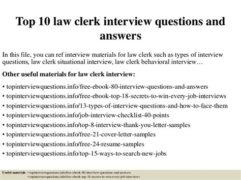 Records Clerk Questions And Answers by Top 10 Clerk Questions And Answers