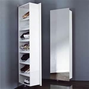 meubles chaussures 3 suisses range chaussures pivotant With meuble a chaussure avec miroir 0 armoire chaussure avec miroir