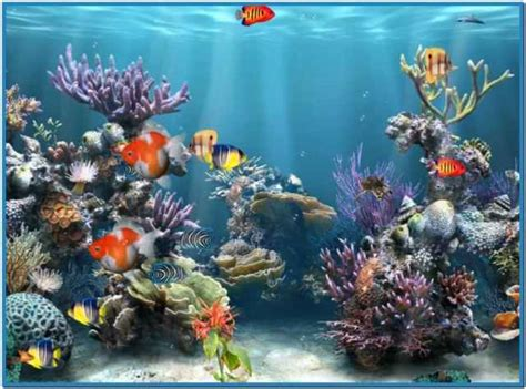 Animated Fish Tank Wallpaper Windows 7 - aquarium background windows 7 animated aquarium