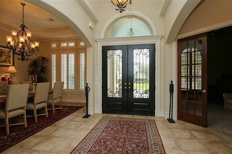 Refreshing Elegant Front Doors Wood And Wrought Iron Front