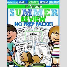 Summer Packet No Prep Review (1st Grade) By The Moffatt Girls Tpt