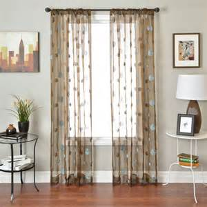 colchester ave hurley sheer rod pocket curtain panel