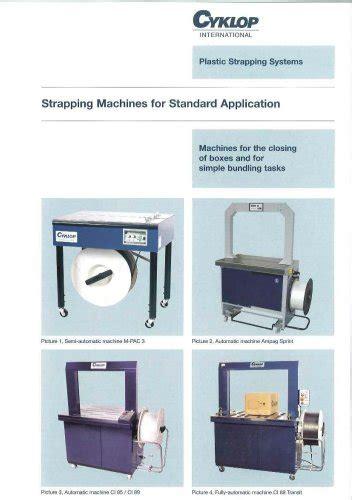 strapping machine cyklop  catalogs technical documentation brochure