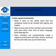 Tips For Improving Team Performance