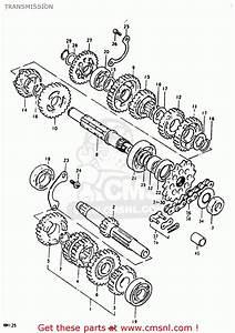 Suzuki Rm125 Rm125 1979 1980  N T  Transmission