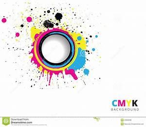 CMYK Splash Background Royalty Free Stock Photos - Image