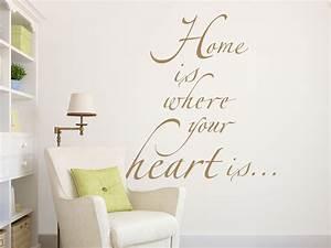 Spruch Zur Hauseinweihung : wandtattoo home is where your heart is ~ Lizthompson.info Haus und Dekorationen