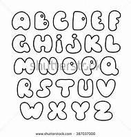 Creative Bubble Letter Alphabet