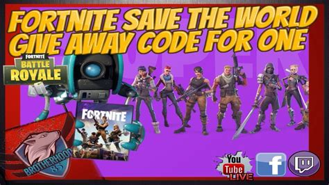 fornite save  world founder pack code give