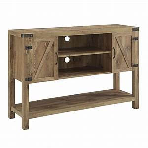 52quot barn door buffet table console tv stand barnwood With buffet table with barn doors