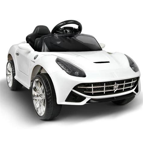 I think ferrari should've considered a pair of. Ferrari F12 Style - White - Cars for Kids Australia