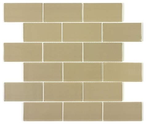 soho 2x8 subway glass tile box contemporary wall and floor tile by design for less