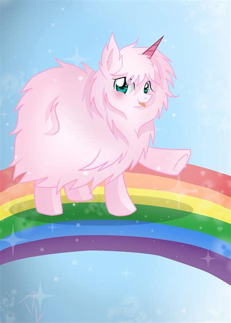 pink fluffy unicorns dancing  rainbows   pony