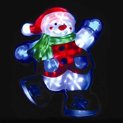 light up snowman indoor skating christmas snowman light with 20 leds indoor outdoor