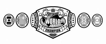Wwe Belt Championship Coloring Belts Pages Printable