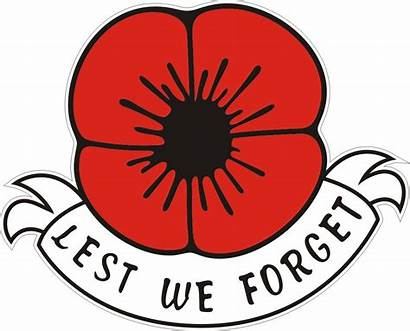 Poppy Remembrance Lest Forget Clipart Sunday Sticker
