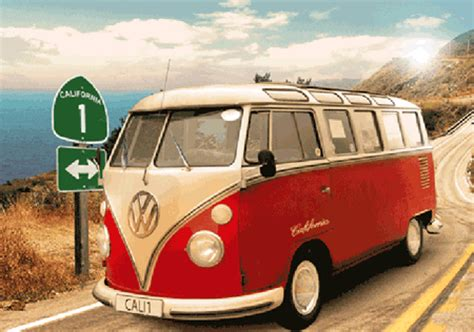 volkswagen vw bus classic camper version   poster
