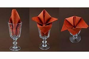 Papier Auf Glas Kleben : servietten falten im glas tischdeko diy pinterest servietten falten servietten und glas ~ Watch28wear.com Haus und Dekorationen