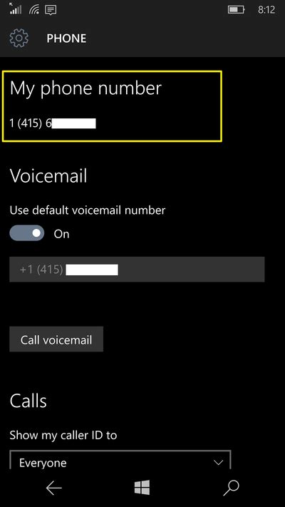 microsoft answer desk phone number how to find your phone number in windows 10 mobile