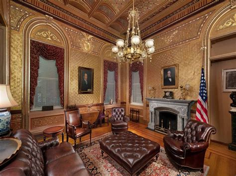 interior design  walls white house complex eisenhower executive office building office