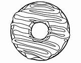 Donut Coloring Pages Donuts Line Printable Doughnut Cute Drawing Coloringcrew Sheets Food Frosting Colouring Print Pasta Bread Template Books Getcoloringpages sketch template