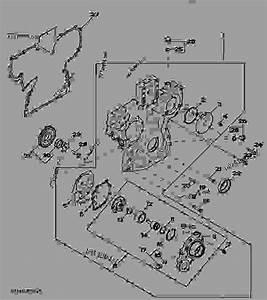 4428 Timing Gear Cover - Tractor John Deere 5525