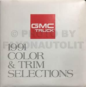 1991 Gmc C  K Sierra Pickup Wiring Diagram Manual 1500 2500