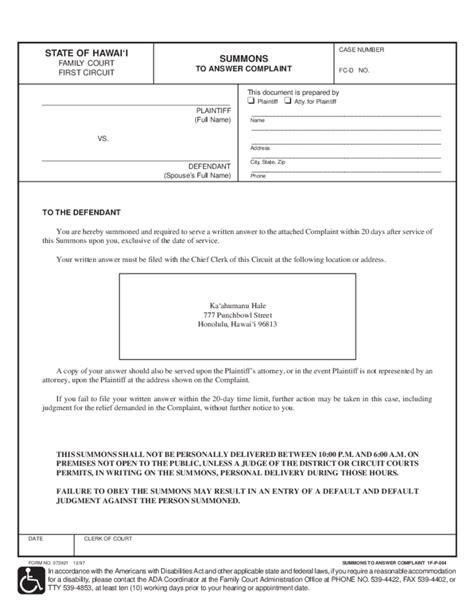 uncontested divorce packet no children