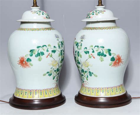 chinese ginger jar table ls pair of 19th century chinese porcelain ginger jars