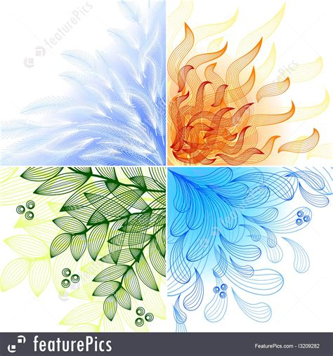 nature  elements stock illustration
