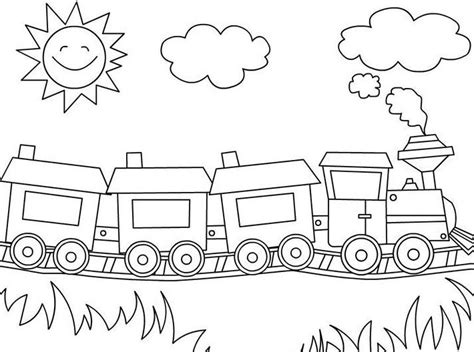 mewarnai kereta api kartun yang unik tempat sah dari