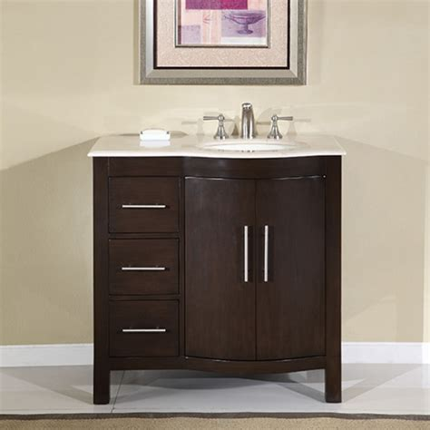shop sinks and faucets 36 inch modern single bathroom vanity with cream