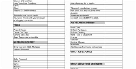 irs donation  guide  spreadsheet payment