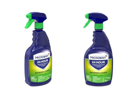 Microban 24 Hour Bathroom Cleaner and Sanitizing Spray $3