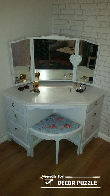 Corner Bedroom Vanity by Out Of An Ikea Corner Desk More Maturely Designed