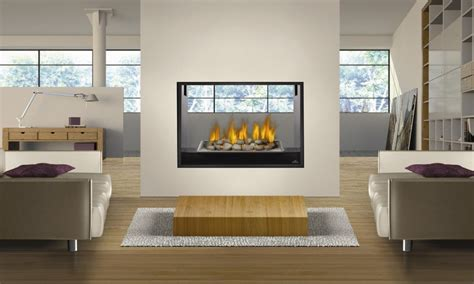 Ventless gas fireplace, ventless gas fireplace double