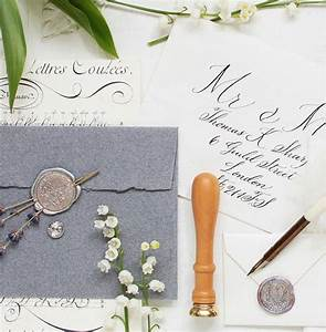 exquisite calligraphy wax seals floral elements for your With wedding invitations with sealing wax