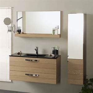 Meuble Salle De Bain Colonne : ensemble meuble vasque miroir colonne jumbo naturel ~ Teatrodelosmanantiales.com Idées de Décoration