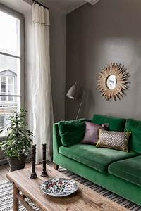 green sofas living rooms - Home and Textiles