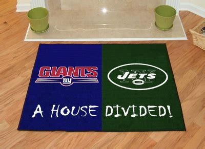 New York Giants vs New York Jets House Divided Floor Rug ...