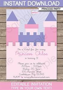 princess birthday party invitations template With princess party invites free templates