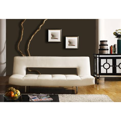 walmart furniture sofa bed homelegance drake elegant lounger in white walmart com