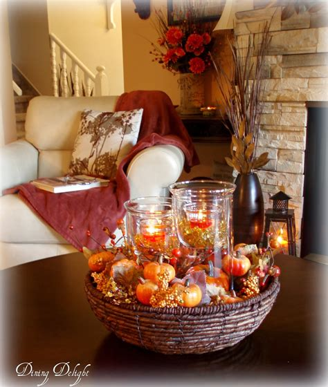 how to decorate a table for fall dining delight fall coffee table centerpiece
