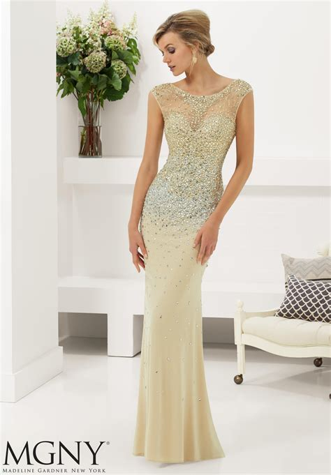 ombre jersey evening gown style  morilee