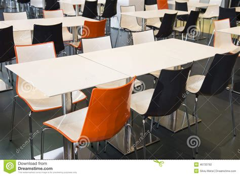 empty tables and chairs stock photo image 46733792