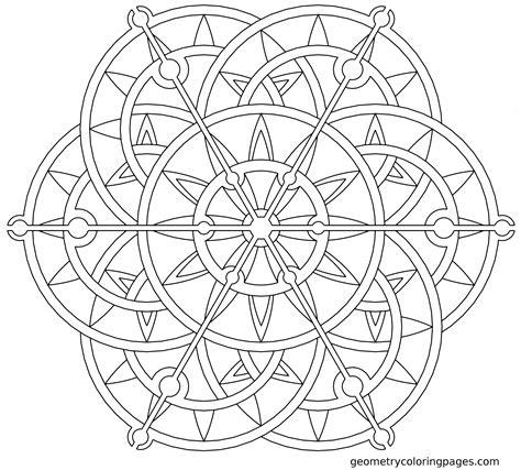 Coloring Mandala by Geometric Mandala Coloring Pages Coloring Home