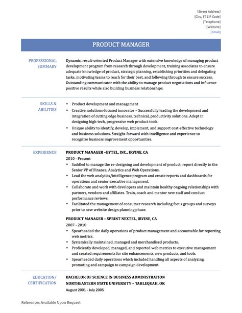 Best Product Manager Resumes by Best Solutions Of Sle Resume Product Manager For Gallery Creawizard